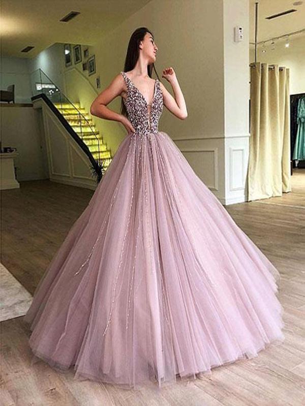 2019 A-line Elegant Sparkly Gorgeous Princess Prom Gown 2e1902b50d75