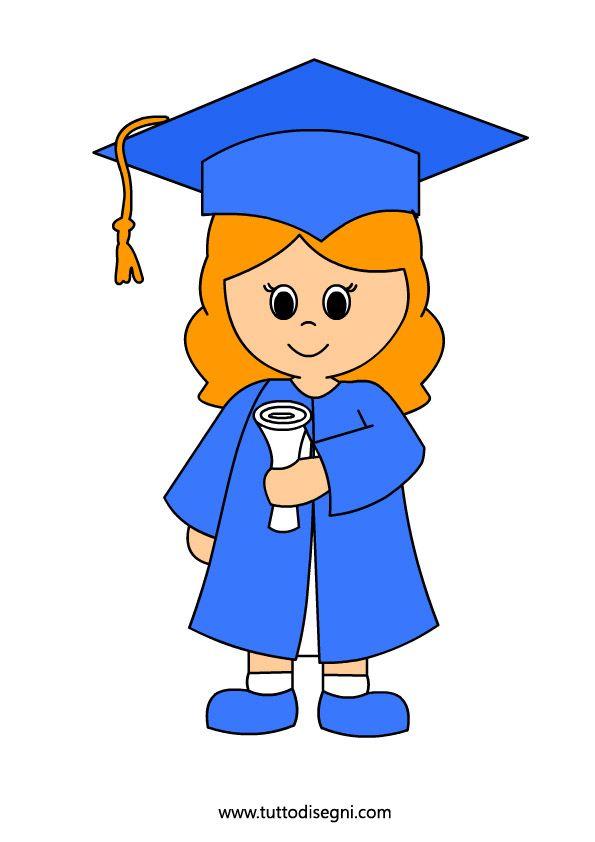 Fine anno scolastico - Bambina con diploma - Tutto Disegni