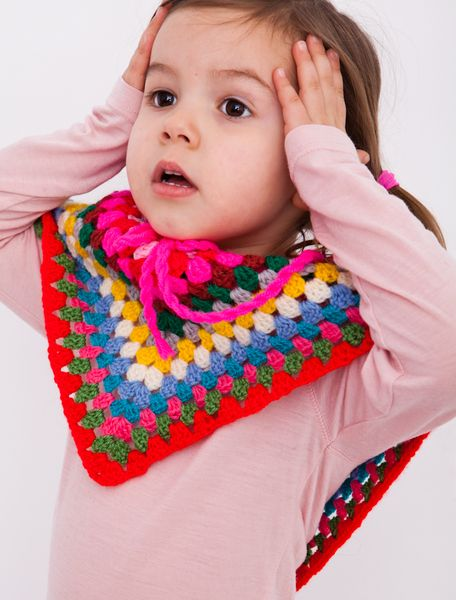 make everyday a sunny day with this colourfull poncho