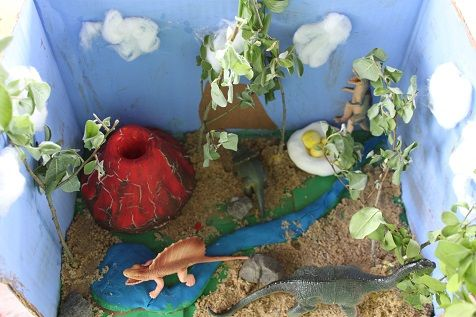 Lots of great dinosaur activities- Dinosaur Diorama, Paper Mache Dinosaur, Dinosaur Footprints Vocabulary Game, and more!