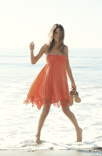 Roxy Native Breeze Cover-Up Dress   Nordstrom  I could easily DIY the fringe bottom on this dress!