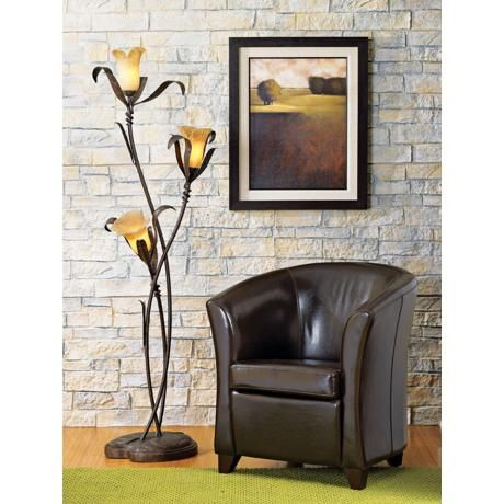 franklin iron works intertwined lilies floor lamp. Black Bedroom Furniture Sets. Home Design Ideas