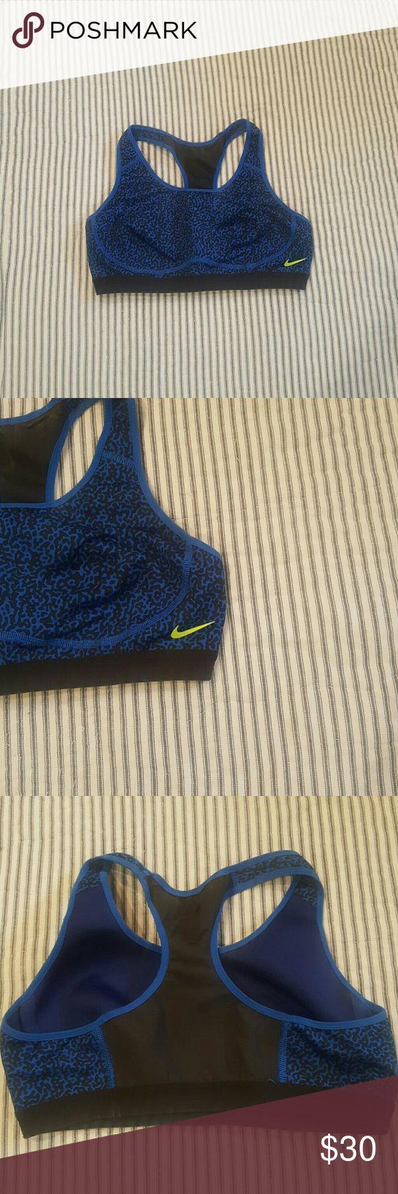 NWOT neoprene leopard Nike Dry Fit bra Blue and leopard NIKE full support DRY FIT Neoprene sports bra. BRAND NEW CONDITION yellow swish Nike Intimates & Sleepwear