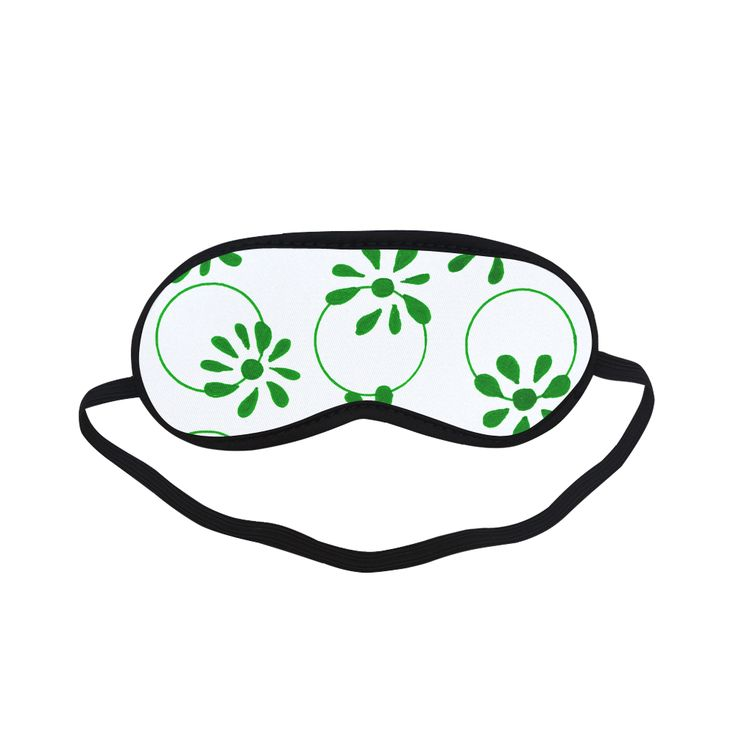 New in shop : Designers hand-drawn Eye relaxing ladies mask / GREEN Sleeping Mask.