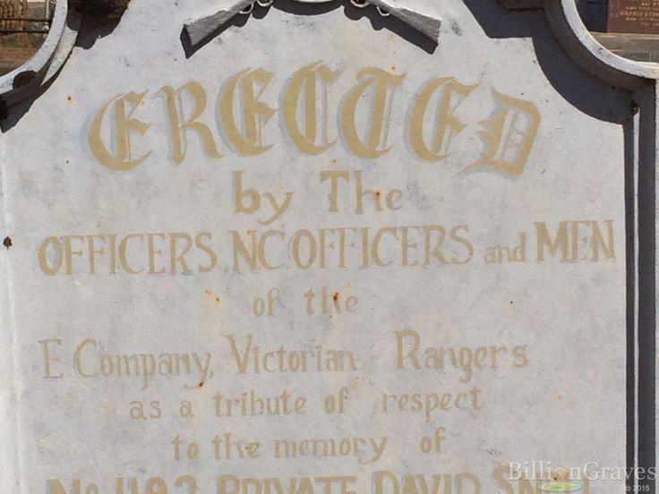 David Snell | Billion Graves Headstone, Cemetery, and Grave Record | Echuca, Victoria, Australia 13333349