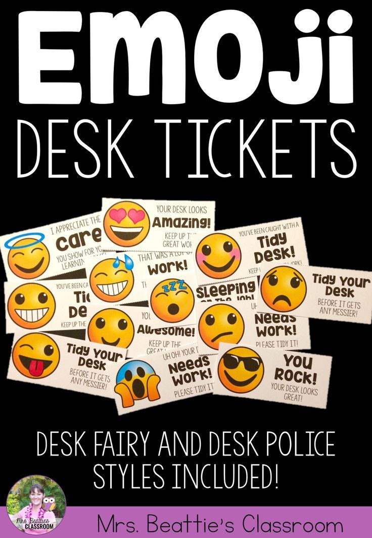Do your students love emojis? These fun Desk Fairy and Desk Police tickets in an emoji theme will help your students keep track of the state of their learning space! 12 fun designs to suit every need!