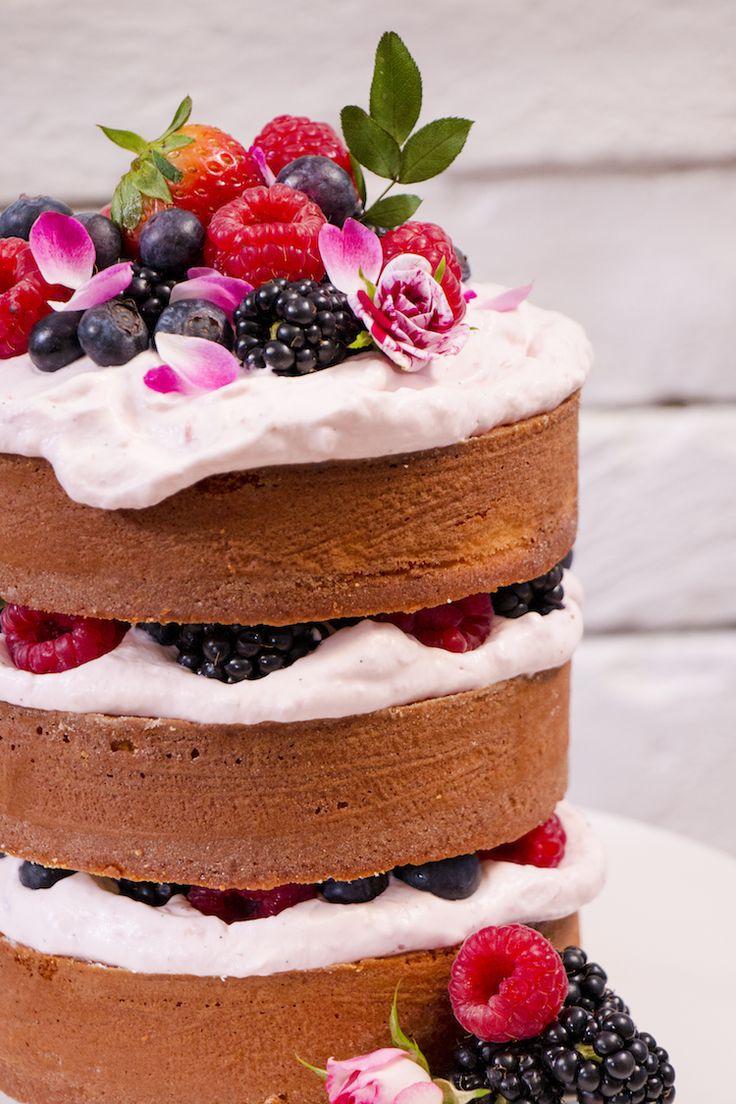 Mini nøgne kokosnød kage med hindbær creme skrællet kage Opskrift Sweet Food Victoria-6033