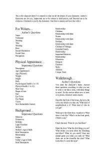 The Ultimate Character Creation Sheet - A six page... - Language Arts Activities