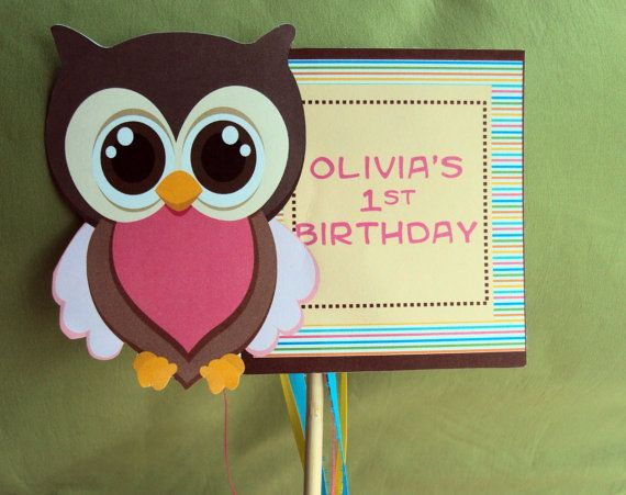 Owl Centerpiece Owl Party Centerpiece by TooCuteInvites on Etsy, $5.00
