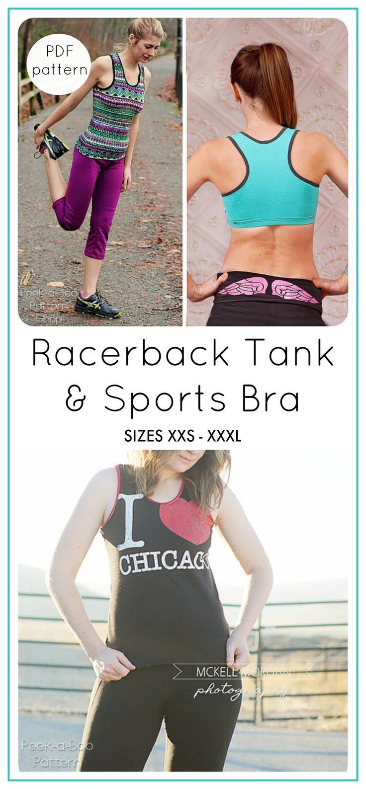8bb5a43ffc9f3 This is a super fun tank! I made the tank alone and it was very easy to  make. Vitality Racerback Tank   Sports Bra Sewing Pattern  Women s Tank Top  Pattern