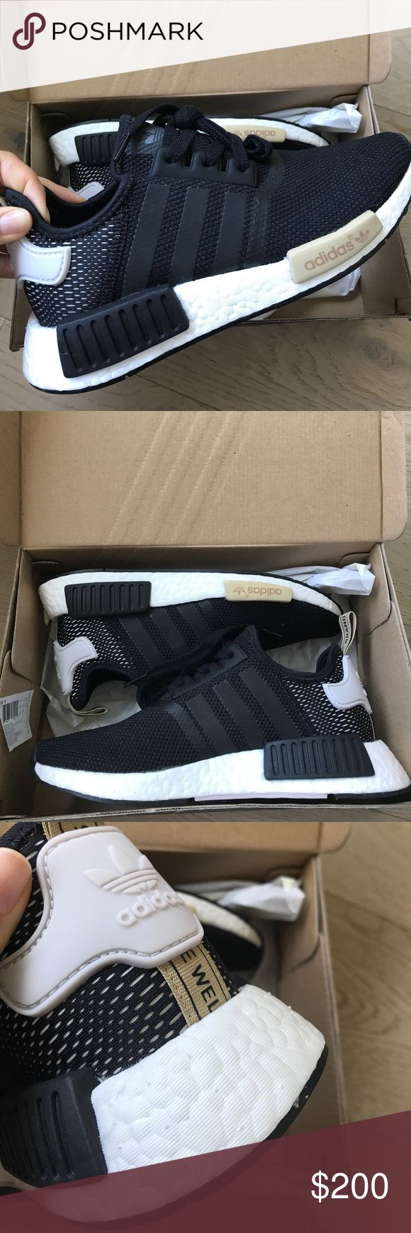 Adidas NMD R1 W black beige original 6 sneakers Adidas NMD R1 W brand new sneakers. Size US 6 in original box as well. 🙅🏻 PLEASE DO NOT ASK LOWEST PRICE 🙅🏻 ------------ Instead ---------------- ✅ USE OFFER BUTTON ✅ --------😐 no low balling please😐-------- 💁🏻 NO DRAMA HERE LETS BE NICE 🤗 🚫🚭 SMOKE FREE - PET FREE HOME 🚫🐾 👉 NO TRADES 👈 adidas Shoes Sneakers