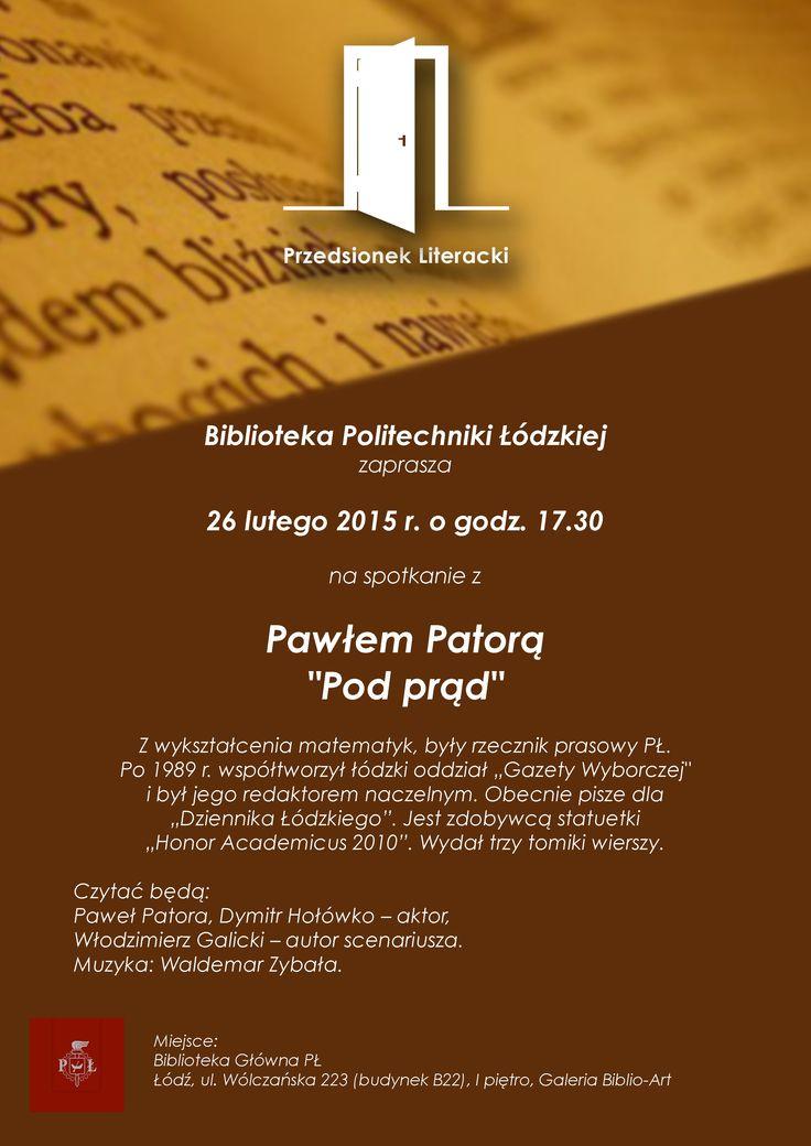 """Spotkanie z Pawłem Patorą """"pod prąd"""" (26 lutego 2015)"""