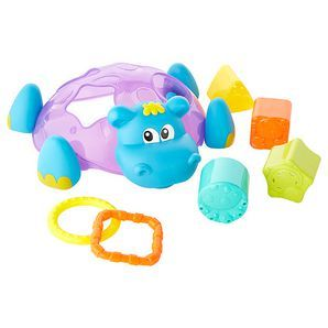 The loveable Sort n' Stack Floating Hippo is sure to delight baby as it floats in the water. Gross motor skills are developed as baby scoops and...