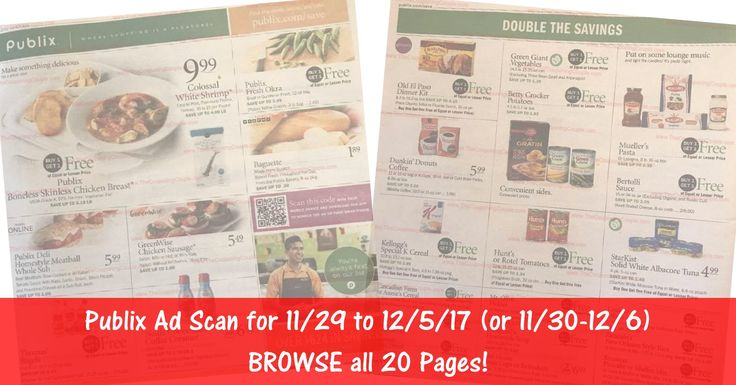 READY to BROWSE the actual upcoming Publix Weekly Ad Scan starting? Here is the Publix Weekly Ad Scan for 11/29/17 - 12/5/17 (11/30-12/6 for Some)! Click the Picture below to BROWSE all 20 Pages ►  http://www.thecouponingcouple.com/publix-weekly-ad-scan-11-29-17/  #earlyad #PublixAd #PublixAdPreview #PublixDeals  Visit us at http://www.thecouponingcouple.com for more great posts!