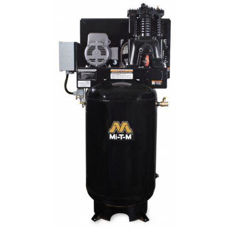 Mi-T-M ACS-23175-80V Simplex Electric Series Vertical Air Compressor, 1250 RPM, 230V, 31A, 1 Phase