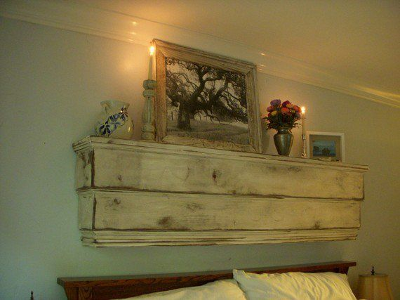 Mantel - Wood Shelf - Ledge - Handcrafted Wooden Furniture - Shabby