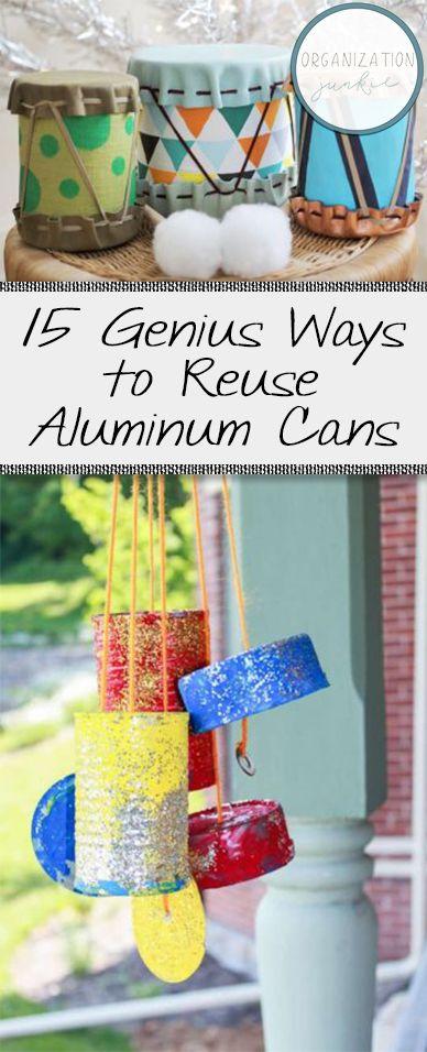 '15 Genius Ways to Reuse Aluminum Cans...!' (via Organization Junkie)
