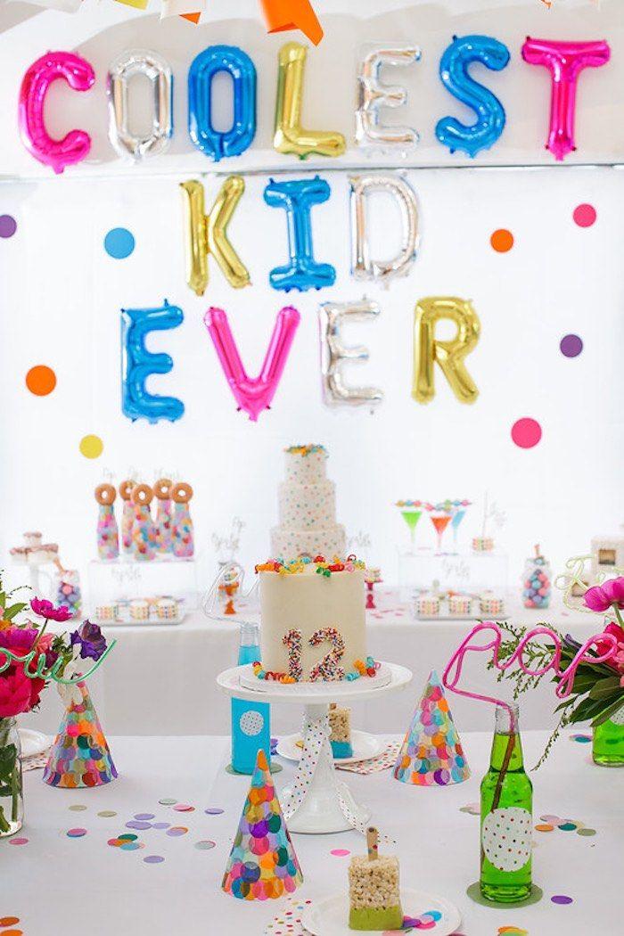 Confetti + Polka Dot Madness themed birthday party via Kara's Party Ideas | KarasPartyIdeas.com (54)