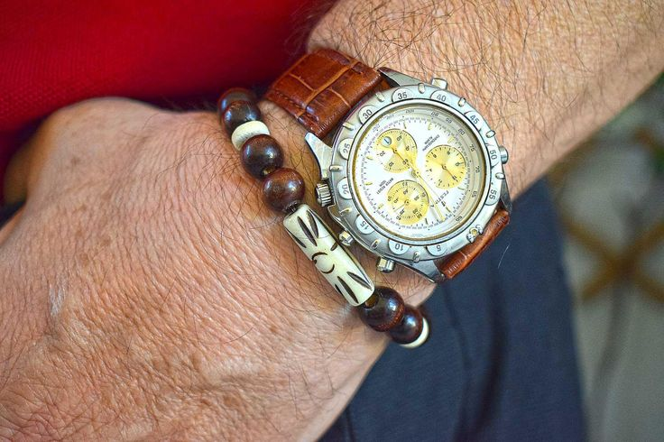 Wood & Carved Bone Beads Bracelet, Men Bracelet, Protection, Unisex Bracelet, Boho Bracelet, Good Fortune, Bohemian Style, Boyfriend Gift