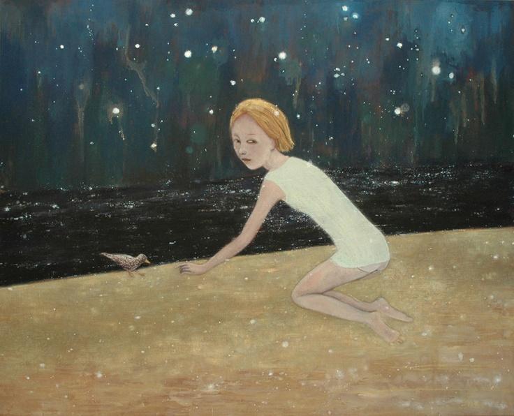 """June Sira; Tempera, 2009, Painting """"Starlight"""""""