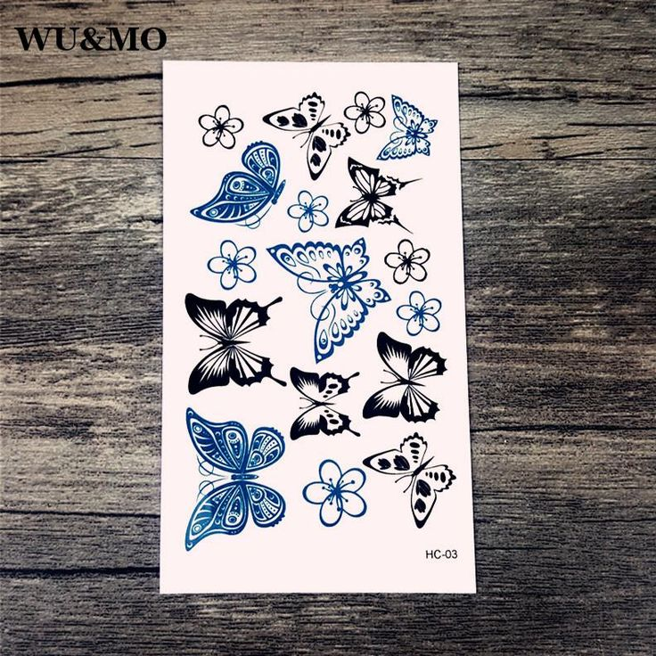 [Visit to Buy] WU&MO HC-003 Water supply hot batch of butterfly tattoo sticker tattoo sticker factory wholesale water transfer water stickers #Advertisement