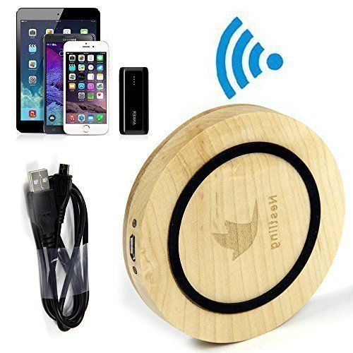cool Nestling®Elegant Bamboo Wood Qi Wireless Charger Pad With Nestling Logo Compatible with Samsung Galaxy S6, S6 Edge, Nexus 4, 5, 6, 7, Moto 360 Watch, Nokia Lumia 830, 735, 920, 928, 930, 1520, Blackberry Z30, Catphone S50, Asus Padfone S PF500KL, Samsung Galaxy S3, S4, S5, Note 3, Note 4, Alpha with PWRcard & SlimPWRcard, iPhone 6, 6 Plus, 5, 5c, 5s with iQi Mobile, and Other Qi-enabled Tablets & Phones -Wood