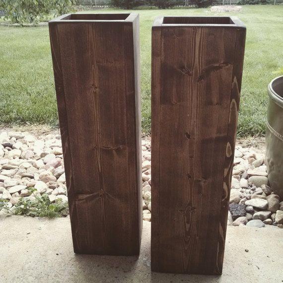 Rustic large wood floor vases. Rustic Wedding by FortWagler