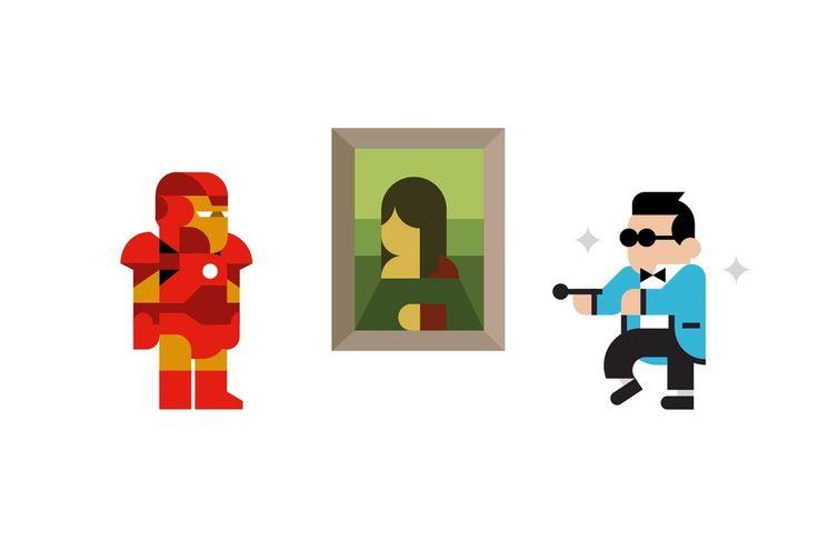 Illustrazioni Personaggi Cultura Pop | #illustrations #illustration #flat #minimal