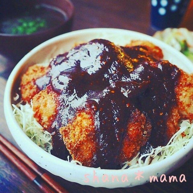止まらない~♪鶏むねガリマヨフライの味噌カツ丼♪