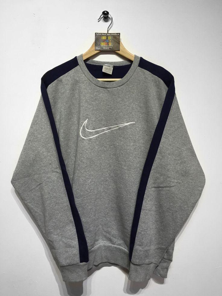 Nike sweatshirt size Large(but fits oversized) £32 Website➡️ www.retroreflex.uk #nike #vintage #oldschool #retro #truevintage