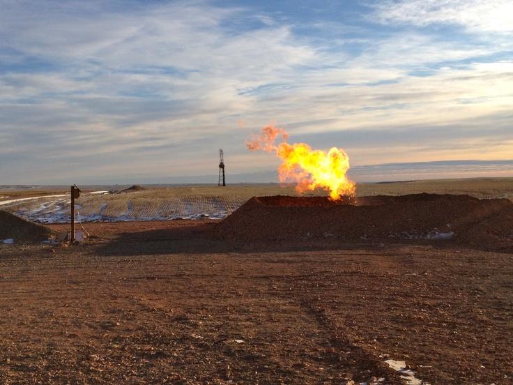 Oil field of Williston North Dakota