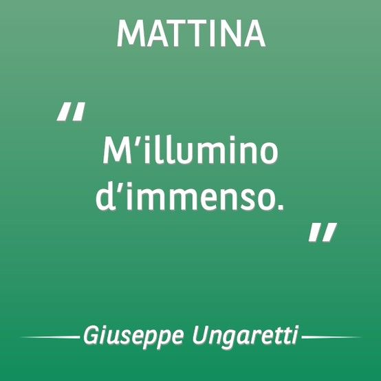 #1917 - Giuseppe Ungaretti compone una delle poesie più conosciute del Novecento italiano, 'Mattina'. #100 #100anni #BNL #Ungaretti