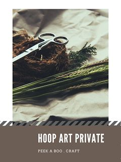 Lets make your hoop by yourself !!! follow our instagram and get special offer ---- https://www.instagram.com/peekaboo.craft/