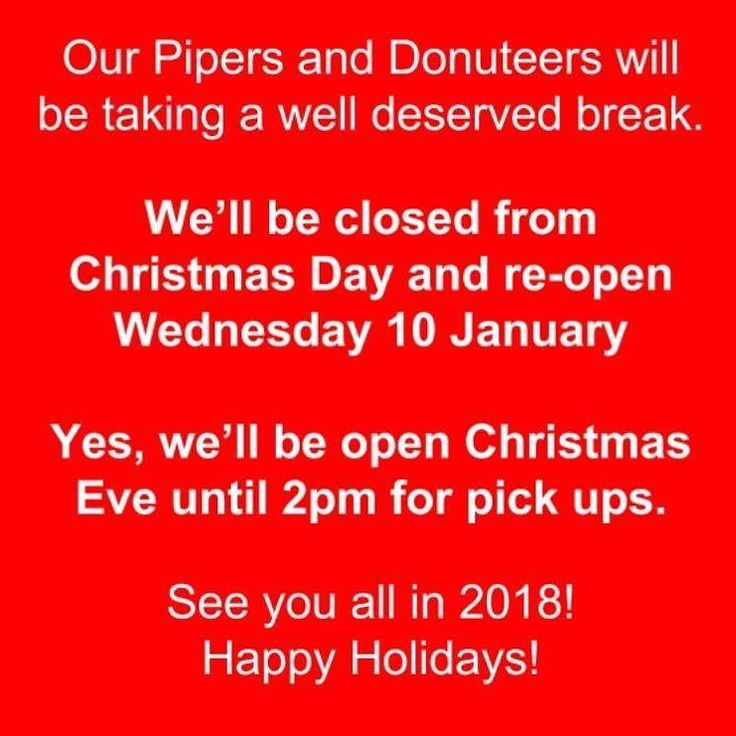 Our Christmas hours. If youre wanting to pick up something on Xmas Eve order it online ASAP. Pick up only. . Happy Holidays!