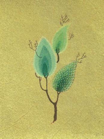 Cahide Keskiner - Minyatür Sanatında Doğa Çizim ve Boyama Teknikleri Osmanlı dönemi bir ağaç, zemin renginin sürülüşü ve üst detaylarının işlenmesi