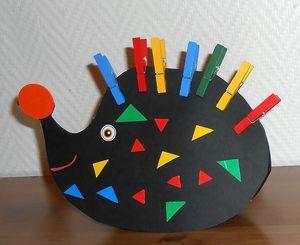 hérisson-activité-manuelle-fabriquer-enfants-pince à linge-gommettes (6)