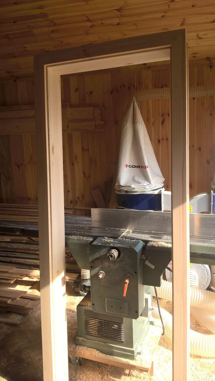 sosnowa framuga, podpatrzyłem gdzieś pewien system, sami zobaczcie jaki na następnych zdjęciach