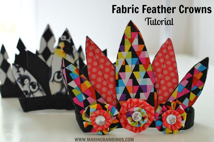 tissu couronne tutoriel de plume de couture bricolage bandeaux de plume
