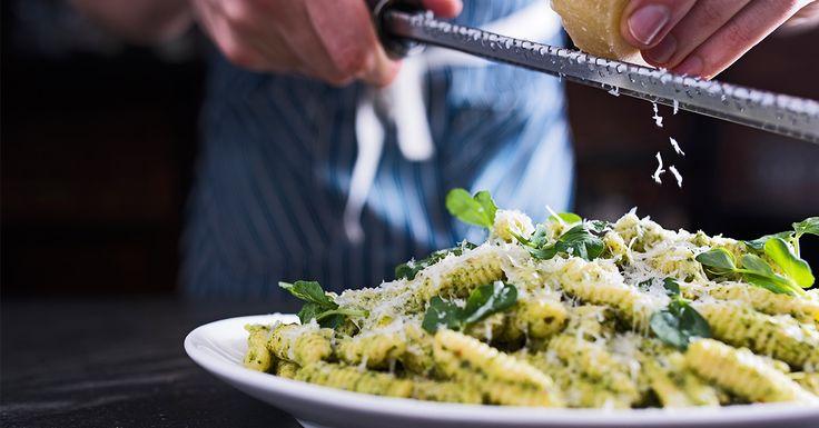 Fresh Cavatelli with Pea Shoot Pesto