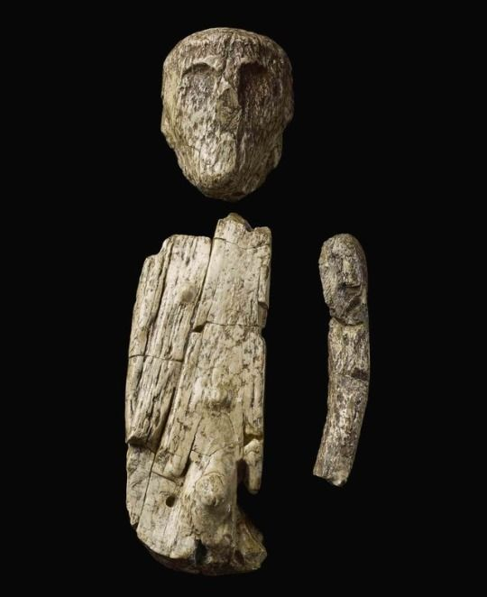 """""""This is the oldest known puppet. Sculpted in woolly mammoth ivory ~26,000 years ago, it was found placed in a grave in what is now Brno in the Czech Republic""""..."""