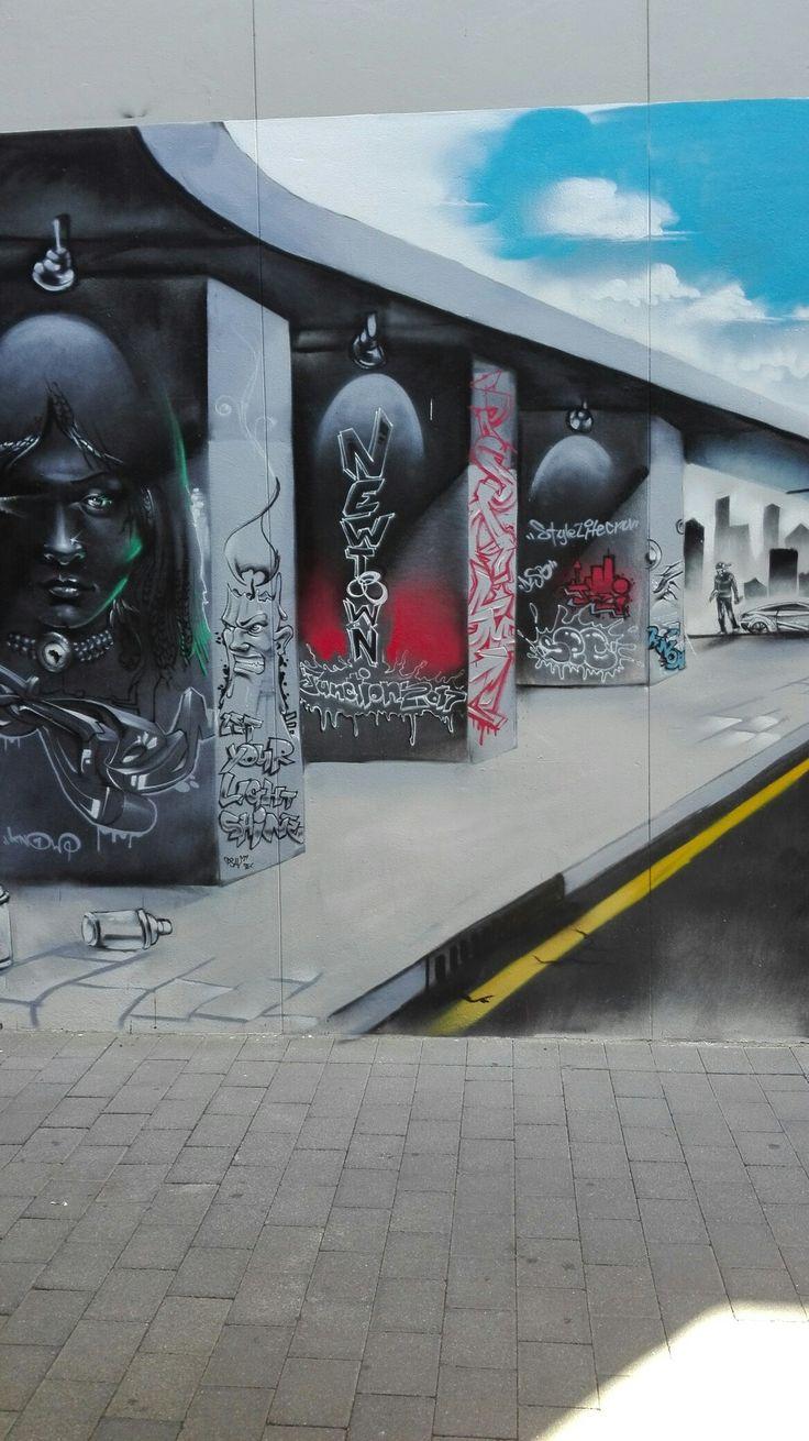 Graffiti street art in Newtown, Johannesburg