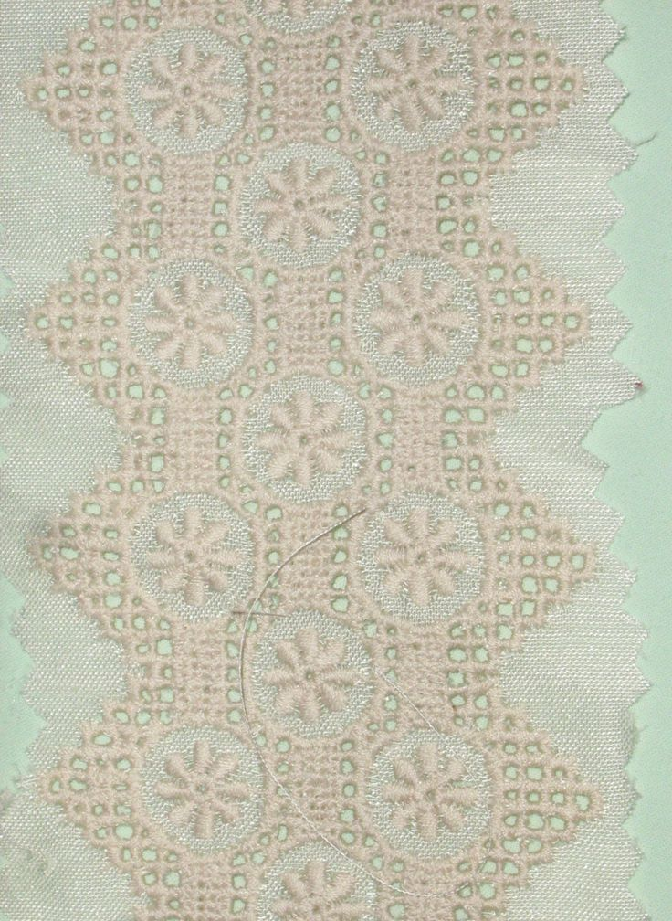 """1 YARD - #Vintage #Cutwork #Embroidery Lace Trim, Border or Insert, 2"""" wide - Floral Motif - #BTY (By the Yard)  sold in 1 contiguous piece by RoseAltheasNook on #Etsy"""