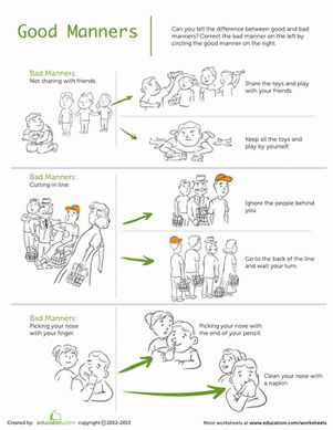 best manners images manners preschool table manners worksheet