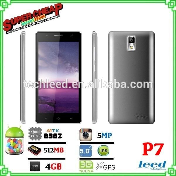 3G mtk6582 china supplier movil telefone P7