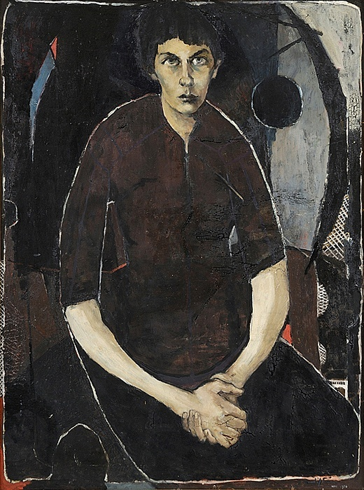 Clifton Pugh ~ Portrait of Marlene, 1956