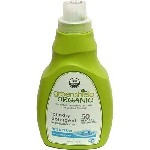 Greenshield Organic, Usda Organic Free and Clear Liquid Laundry Detergent, 50-Ounces (Pack of 4), http://www.amazon.com/dp/B003VYM3UM/ref=cm_sw_r_pi_awdm_x_x0g1xbYGD7WQM