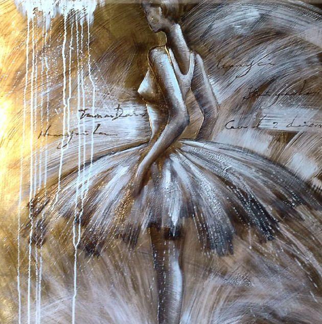 peinture moderne danseuse tutu : tableau contemporain