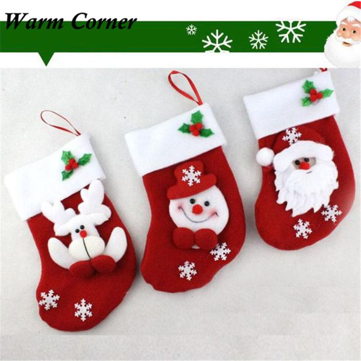 Warm Corner LM New Festival Christmas Stocking Xmas Hanging Decoration Party Ornament Hot Supply Snowman Free Shipping Sept 16 #>=#>=#>=#>=#> Click on the pin to check out discount price, color, size, shipping, etc. Save and like it!