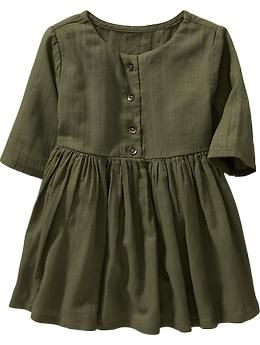 3/4-Sleeve Crepe Dresses for Baby | Old Navy
