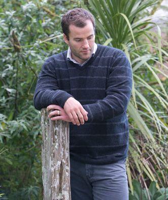 Luxury V neck sweater from possum merino wool
